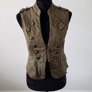 B2G1 Ali & Kris Olive Green Zip Up Military Vest